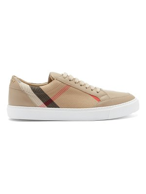 Burberry salmond check-panel leather trainers