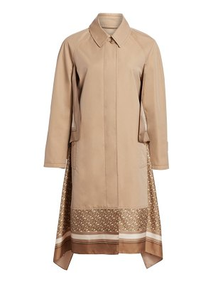 Burberry scarf trimmed car coat