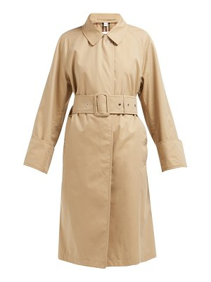 Burberry single breasted cotton gabardine trench coat