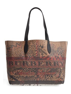 BURBERRY Sketchbook/Check Reversible Canvas Tote