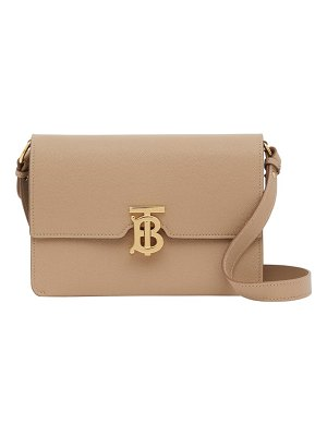 Burberry small albion tb monogram grainy leather crossbody bag