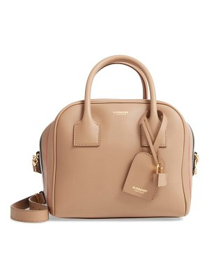 Burberry small leather cube bag