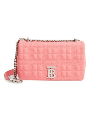 Burberry small lola quilted check leather bag