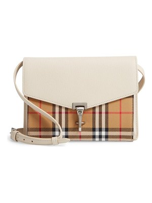 Burberry small macken vintage check crossbody bag