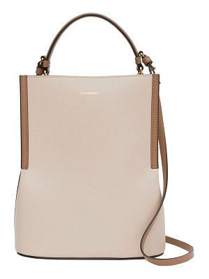Burberry small peggy leather bucket bag