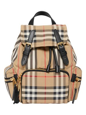Burberry small vintage check & leather rucksack