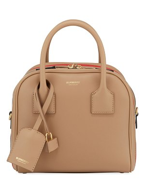 Burberry Small Smooth Leather Bowling Bag