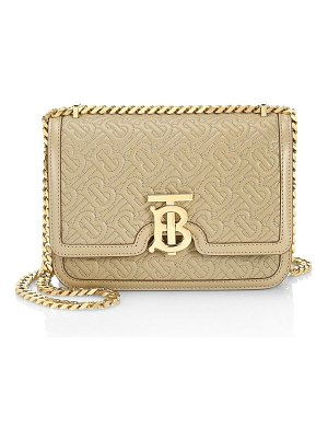 Burberry small tb monogram leather shoulder bag