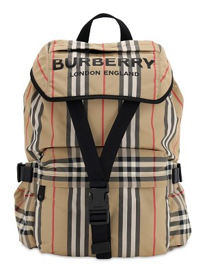 Burberry Small wilfin check nylon backpack