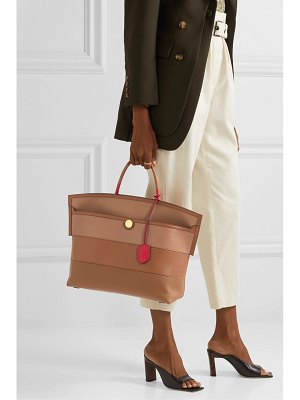 Burberry smooth and textured-leather tote