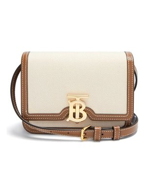Burberry tb mini canvas and leather cross-body bag