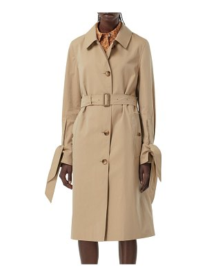 Burberry tie cuff single breasted trench coat