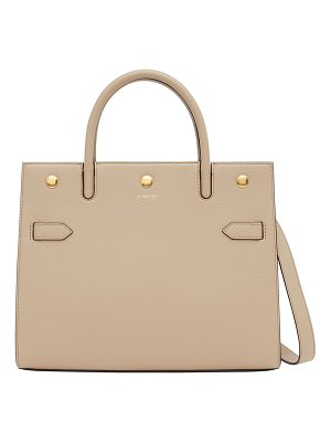 Burberry Title Small Leather Top-Handle Bag