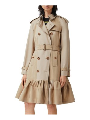 Burberry tulip double breasted trench coat