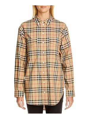 Burberry turnstone check shirt