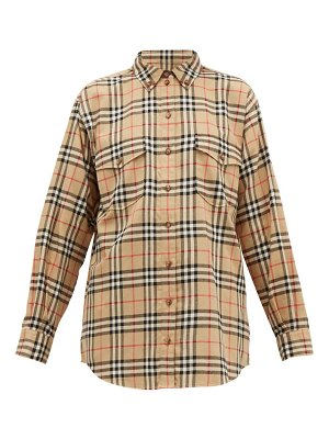 Burberry turnstone house check brushed cotton shirt
