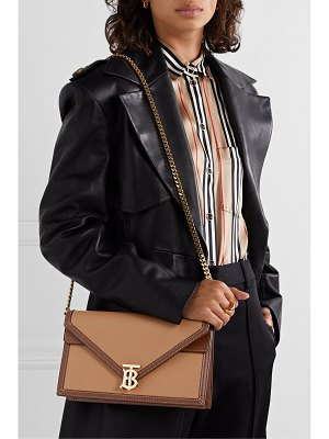 Burberry two-tone leather shoulder bag