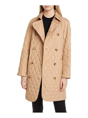 Burberry tything quilted double breasted coat