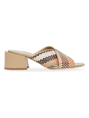 Burberry vintage check woven leather mules