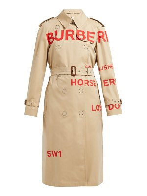 Burberry wharbridge cotton gabardine trench coat