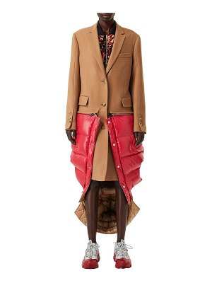 Burberry Wool coat w/vest