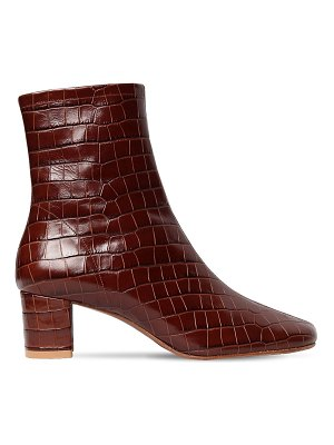 by FAR 50mm sodia croc embossed leather boots