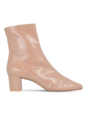 by FAR 50mm sofia leather ankle boots