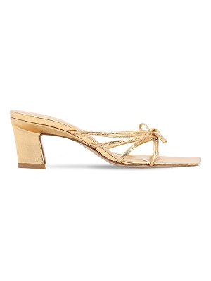 by FAR 60mm marissa metallic leather sandals