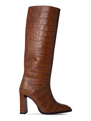 by FAR 90mm camilla croc embossed leather boots