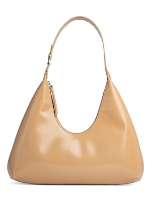 by FAR amber semi patent leather hobo bag
