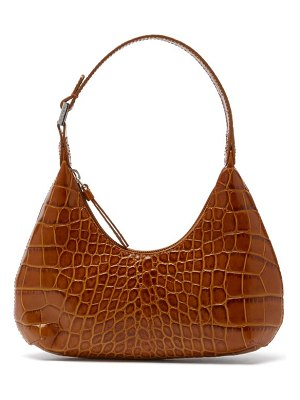 by FAR baby amber croc-effect leather mini shoulder bag