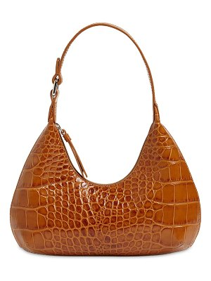 by FAR Baby amber croc embossed leather bag