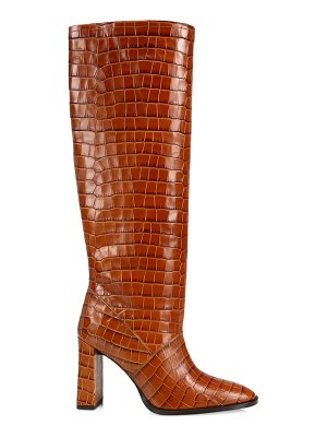 by FAR camilla tall croc-embossed leather boots