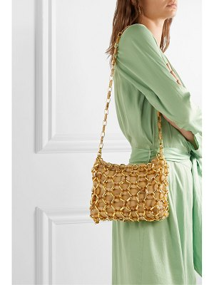 by FAR capria leather, resin and gold-tone shoulder bag