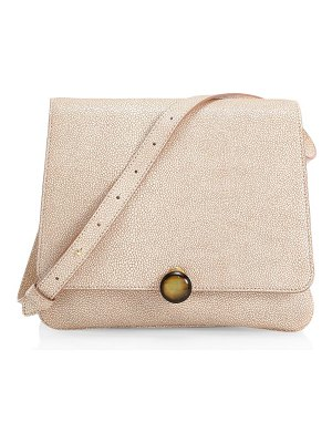 by FAR margot stingray-embossed leather shoulder bag