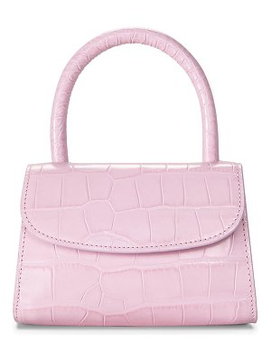 by FAR mini croc embossed leather top handle bag