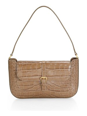 by FAR miranda croco embossed leather shoulder bag