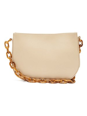 by FAR pelle chain handle leather shoulder bag