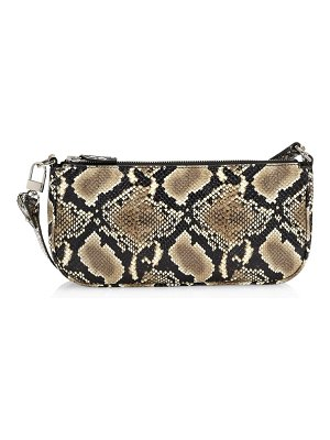 by FAR rachel snakeskin-embossed leather shoulder bag