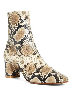 by FAR sofia snake embossed bootie