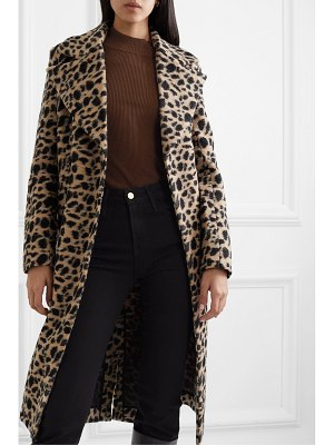 By Malene Birger belloa double-breasted animal-print wool-blend coat