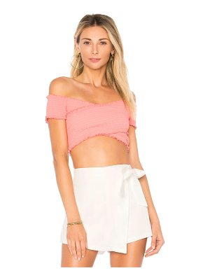 BY THE WAY. Audrina Smocked Crop Top