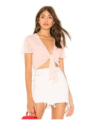 by the way. Aylin Star Embellished Tie Crop Top