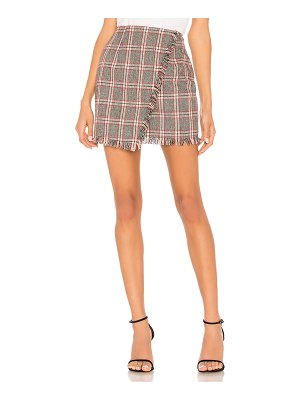 by the way. Carol Plaid Fringe Skirt