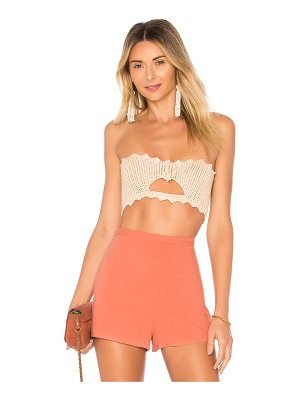 BY THE WAY. Cora Crochet Crop Top