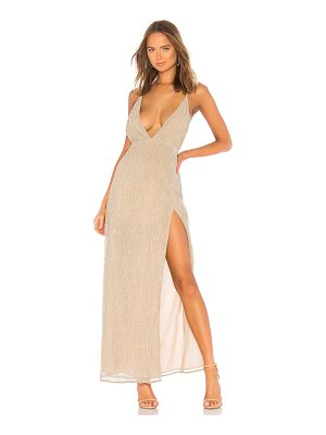 superdown hailee high slit maxi dress