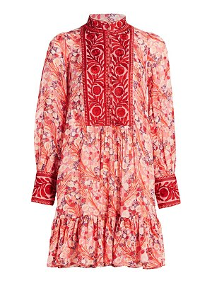 byTiMo delicate semi couture embroidered ribbon dress