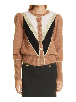 byTiMo golden colorblock cardigan
