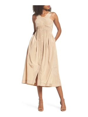CAARA Aria Cotton & Silk Midi Dress