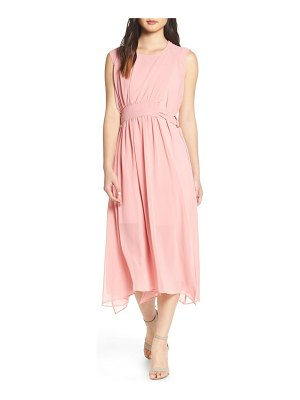 CAARA d-ring chiffon midi dress